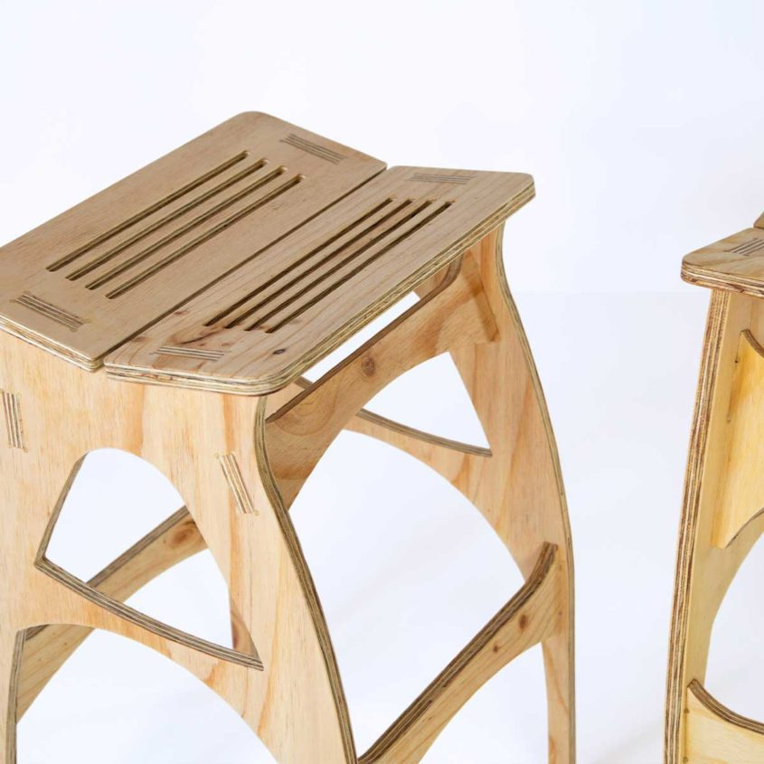 Bespoke Timber Stool, Fulford Wood, Buy online